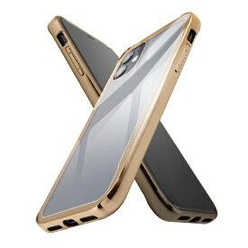 イングレム Ingrem iPhone 11 ハイブリッドガラスケース メタリック/ゴールド IS-P21CC13/CG ゴールド