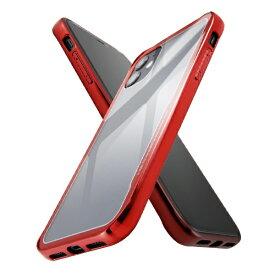 イングレム Ingrem iPhone 11 ハイブリッドガラスケース メタリック/レッド IS-P21CC13/R レッド