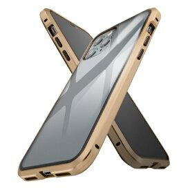 イングレム Ingrem iPhone 11 Pro アルミ×ガラス マグネットケース/ゴールド IS-P23AG1/CG ゴールド