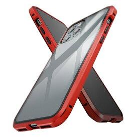 イングレム Ingrem iPhone 11 Pro アルミ×ガラス マグネットケース/レッド IS-P23AG1/R レッド