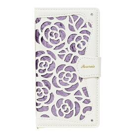 ナチュラルデザイン NATURAL design マルチタイプ 手帳型ケース La Roseraie Purple ML-Rose03