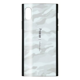 ナチュラルデザイン NATURAL design iPhoneXR専用背面ケース Premium COLOFUL CAMO White iP18_61-PREMS03