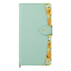 ナチュラルデザイン NATURAL design AQUOS sense2専用手帳型ケース Fleur Mint AQS2-FLE06
