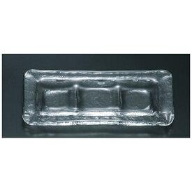 吉沼硝子 Yoshinuma Glass 付出 三ッ目皿 05-179 <RTK4401>[RTK4401]