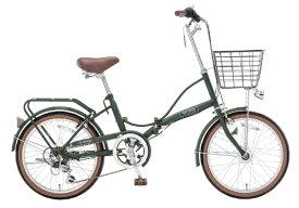 アサヒサイクル Asahi Cycle 20型 折りたたみ自転車 アスタリスク206(マットオリーブドラブ/外装6段変速) OCG206【2019年モデル】 【代金引換配送不可】