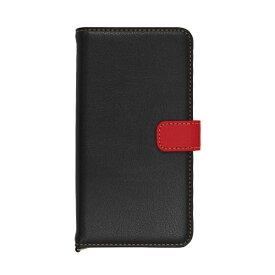 ラスタバナナ RastaBanana iPhone 11 6.1インチ モデル 手帳+COLOR ケース 5053IP961BO ブラック×レッド