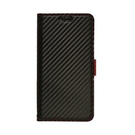 ラスタバナナ RastaBanana iPhone 11 Pro 5.8インチ 薄型手帳ケース サイドマグネット carbon 5023IP958BO ブラック×レッド