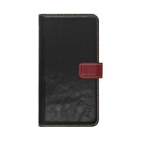 ラスタバナナ RastaBanana iPhone 11 Pro 5.8インチ 薄型手帳ケース +COLOR 5031IP958BO ブラック×レッド