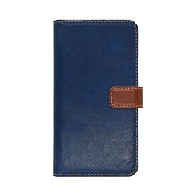 ラスタバナナ RastaBanana iPhone 11 Pro 5.8インチ 薄型手帳ケース +COLOR 5032IP958BO ネイビー×ブラウン