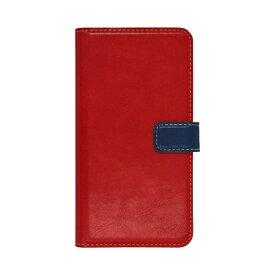 ラスタバナナ RastaBanana iPhone 11 Pro 5.8インチ 薄型手帳ケース +COLOR 5033IP958BO レッド×ネイビー