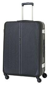 SKY NAVIGATOR スカイナビゲーター スーツケース ワンタッチロックハードフレーム 71L ブラック SK-0810-64-BK [TSAロック搭載]