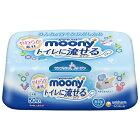 ユニチャーム unicharm moony(ムーニー)おしりふきトイレに流せるタイプ本体(50枚)