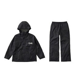 ロゴス LOGOS メンズ レインウェア レインコンフォート 撥柄スーツ(ブラック/LLサイズ) 28743711