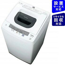 日立 HITACHI NW-50E-W 全自動洗濯機 ピュアホワイト [洗濯5.0kg /乾燥機能無 /上開き][洗濯機 5kg NW50E]