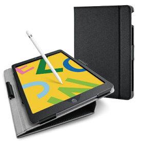 エレコム ELECOM iPad 10.2(第7/第8世代対応) ソフトレザー ドローイング軽量 TB-A19RDPLCBK ブラック