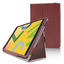 エレコム ELECOM iPad 10.2(第7/第8世代対応) ソフトレザー 2アングル 軽量 TB-A19RPLFBR ブラウン