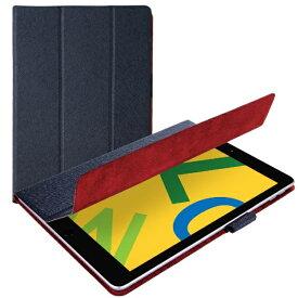 エレコム ELECOM iPad 10.2(第7/第8世代対応) イタリア製ソフトレザー 薄型 TB-A19RWDTNV ネイビー