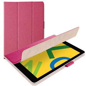 エレコム ELECOM iPad 10.2(第7/第8世代対応) イタリア製ソフトレザー 薄型 TB-A19RWDTPN ピンク