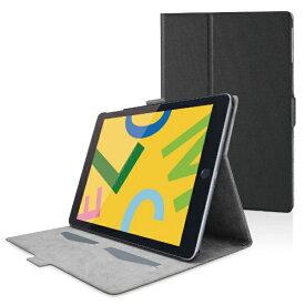 エレコム ELECOM iPad 10.2(第7/第8世代対応) ソフトレザー フリーアングル スリープ TB-A19RWVFUBK ブラック
