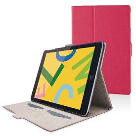 エレコム ELECOM iPad 10.2(第7/第8世代対応) ソフトレザー フリーアングル スリープ TB-A19RWVFUPN ピンク