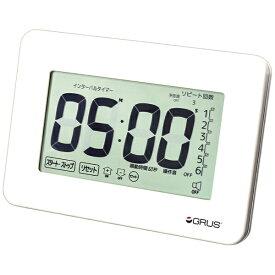 インテック 掛け置き時計 大画面・大音量タイマー GRUS(グルス) GRS201