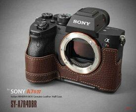 LIMS 本革カメラハーフケース SY-A7R4DBR ブラウン
