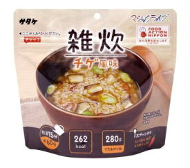 マジックライス 保存食 お湯だけで食べられるマジックライス(雑炊 チゲ風味/1食入:70g) 186282