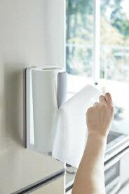 山崎実業 Yamazaki プレート ストッパー付マグネットキッチンペーパーホルダー(Magnet Kitchen Paper Holder With Stopper Plate) 3420 ホワイト[3420]