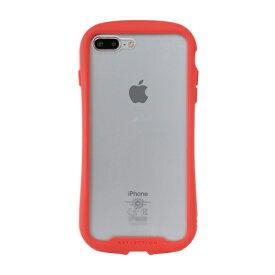 HAMEE ハミィ [iPhone 8 Plus/7 Plus専用]iFace Reflection強化ガラスクリアケース 41-907498 レッド