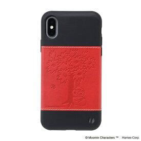 HAMEE ハミィ [iPhone XS/X専用]ムーミン/Zarf ソフトケース 276-912812 木の下のリトルミイ/レッド