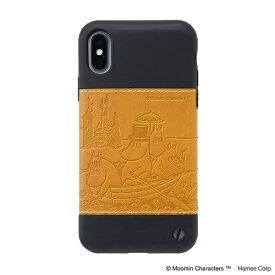 HAMEE ハミィ [iPhone XS/X専用]ムーミン/Zarf ソフトケース 276-912836 ボート/キャメル