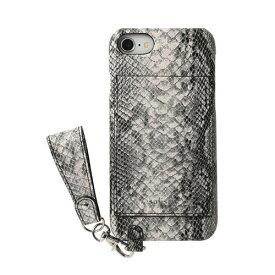 HAMEE ハミィ iPhone SE(第2世代)4.7インチ/ iPhone 8/7/6s/6専用 salisty(サリスティ)M エキゾチックスタイル ハードケース 276-913826 パイソン/ブラック
