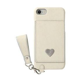 HAMEE ハミィ iPhone SE(第2世代)4.7インチ/ iPhone 8/7/6s/6専用 salisty(サリスティ)P シルバーハート ハードケース 276-913918 バニラ