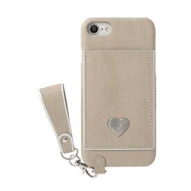 HAMEE ハミィ iPhone SE(第2世代)4.7インチ/ iPhone 8/7/6s/6専用 salisty(サリスティ)P シルバーハート ハードケース 276-913932 ベージュ