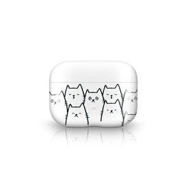 オドロキ ODOROKI PRISMART Case for AirPods Pro White Cat Casestudi[airpods pro ケース カバー]