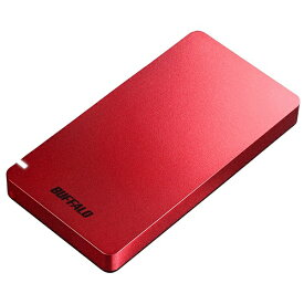 BUFFALO バッファロー SSD-PGM480U3-R 外付けSSD ポータブル 480GB 超小型 PS4対応 Type-C レッド [ポータブル型 /480GB]