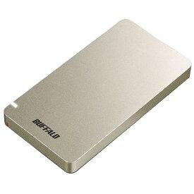 BUFFALO バッファロー SSD-PGM960U3-G 外付けSSD ポータブル 960GB 超小型 PS4対応 Type-C ゴールド [ポータブル型 /960GB]