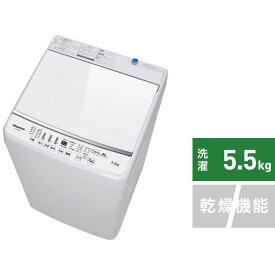 ハイセンス Hisense HW-G55B-W 全自動洗濯機 ホワイト [洗濯5.5kg /乾燥機能無 /上開き]【point_rb】