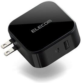 エレコム ELECOM AC充電器 42W Type-C1ポート USB-Aメス1ポート ブラック MPA-ACCP13BK [2ポート /USB Power Delivery対応 /Smart IC対応]