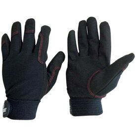AMAG ユニワールド WORKS HOMME 人工皮革手袋 背抜き ブラック L 3750-BK-L