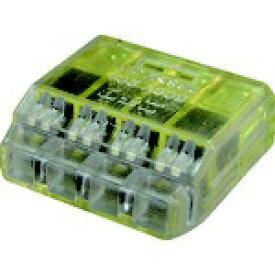 ニチフ端子工業 NICHIFU ニチフ クイックロック 差込形電線コネクタ 極数4 黄透明 50個入 QLX4