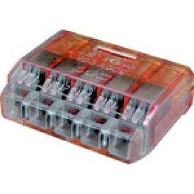 ニチフ端子工業 NICHIFU ニチフ クイックロック 差込形電線コネクタ 極数5 橙透明 50個入 QLX5