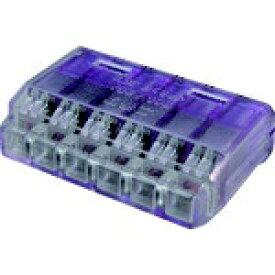 ニチフ端子工業 NICHIFU ニチフ クイックロック 差込形電線コネクタ 極数6 紫透明 20個入 QLX6