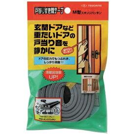 槌屋 TSUCHIYA 槌屋 戸当りすき間テープ M型 グレー TSM-001