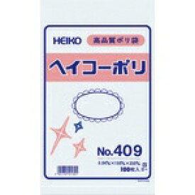 シモジマ SHIMOJIMA HEIKO ポリ規格袋 ヘイコーポリ No.409 紐なし 006617900