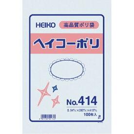 シモジマ SHIMOJIMA HEIKO ポリ規格袋 ヘイコーポリ No.414 紐なし 006618400