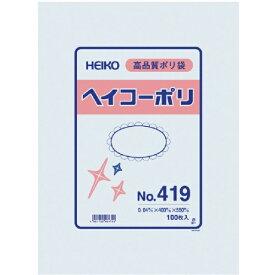 シモジマ SHIMOJIMA HEIKO ポリ規格袋 ヘイコーポリ No.419 紐なし 006618900