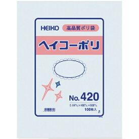 シモジマ SHIMOJIMA HEIKO ポリ規格袋 ヘイコーポリ No.420 紐なし 006619000