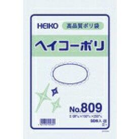 シモジマ SHIMOJIMA HEIKO ポリ規格袋 ヘイコーポリ No.809 紐なし 006627900