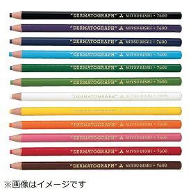 三菱鉛筆 MITSUBISHI PENCIL uni 油性ダーマトグラフ 茶  (12本入) K7600.21
